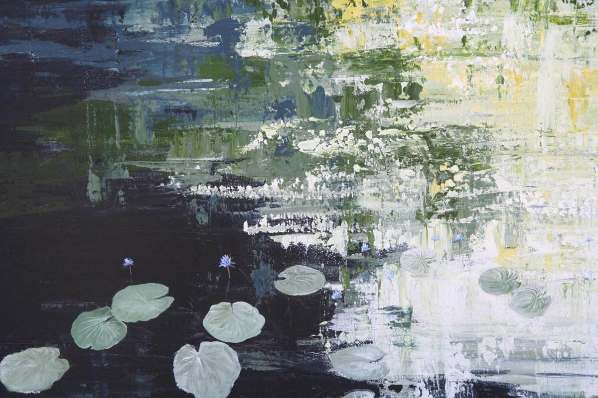 Cool Lagoon, painting by artist Heather Wood