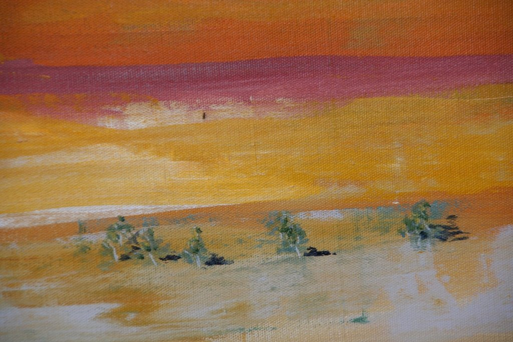 View from the Jump-up 2, painting by artist Heather Wood