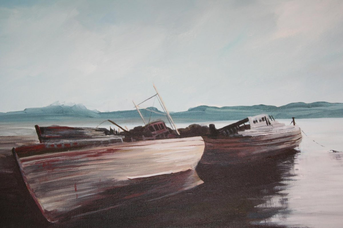 Abandoned 2, painting by artist Heather Wood