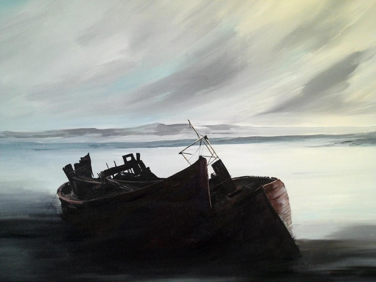 Abandoned, painting by artist Heather Wood