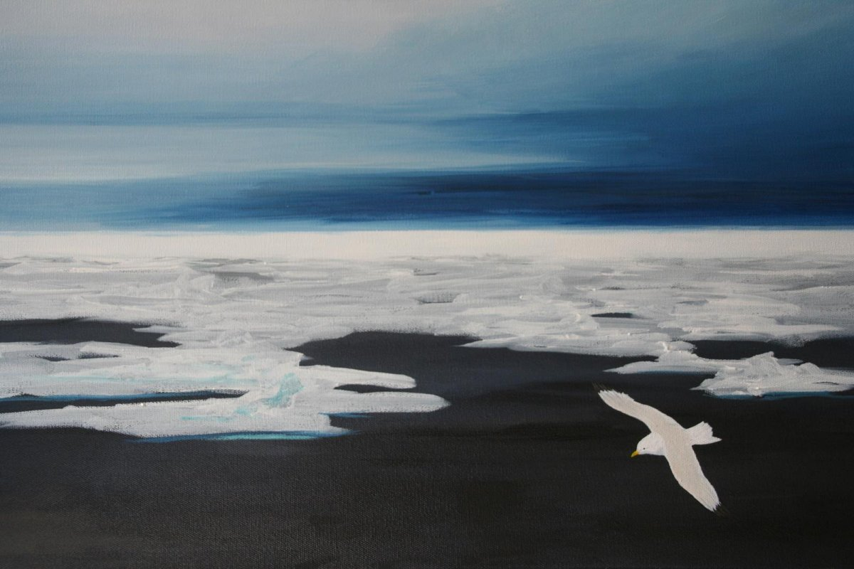 Arctic, painting by artist Heather Wood
