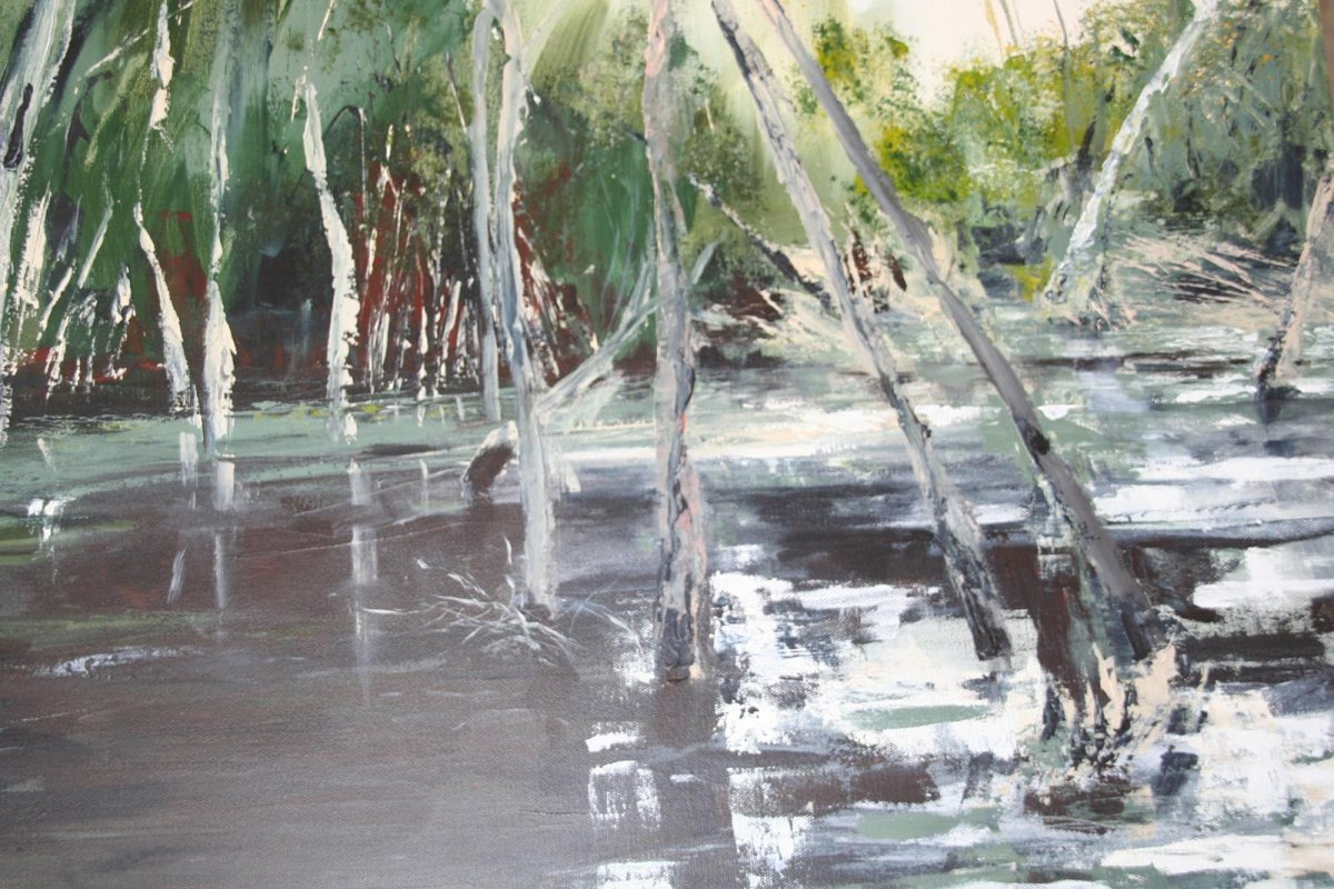 Billabong, painting by artist Heather Wood