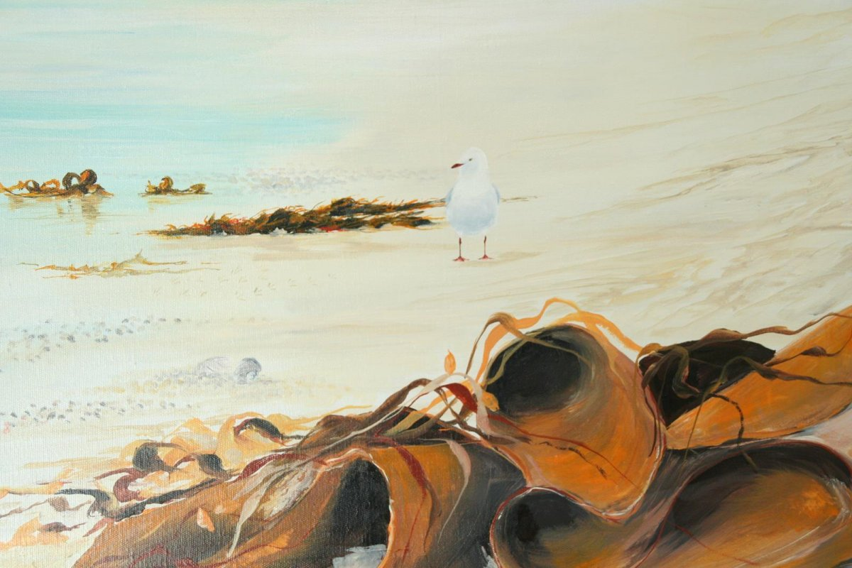 Busy Morning Port Fairy, painting by artist Heather Wood