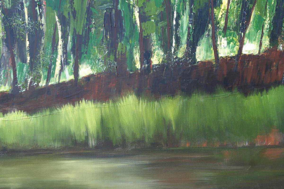 Glenelg River 1,  acrylic on canvas, for sale by artist Heather Wood $980