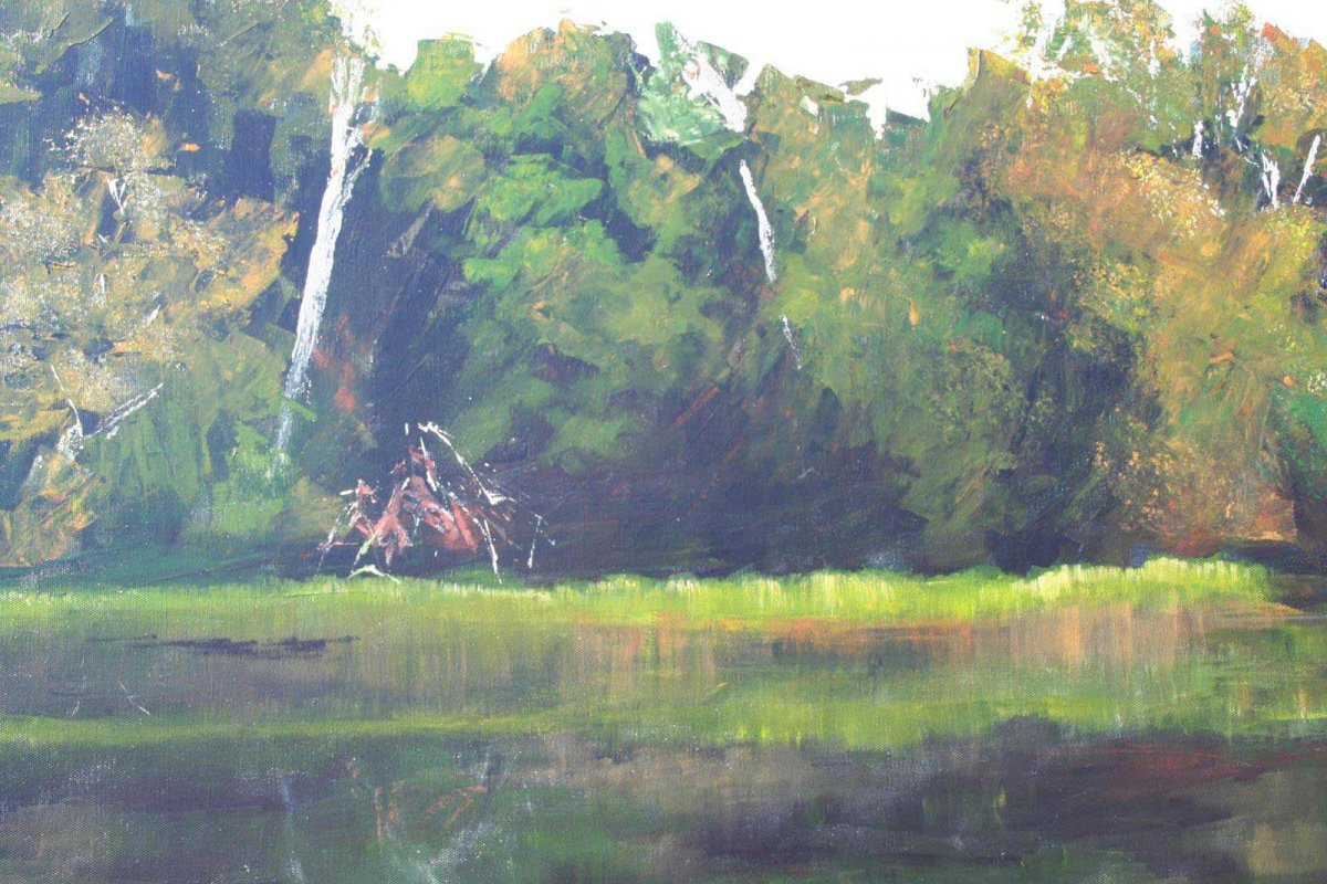 Glenelg River 2, acrylic on canvas by artist Heather Wood for sale for $980.