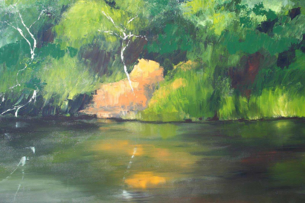 Glenelg River 3, acrylic on canvas, painting for sale by Heather Wood for $980.