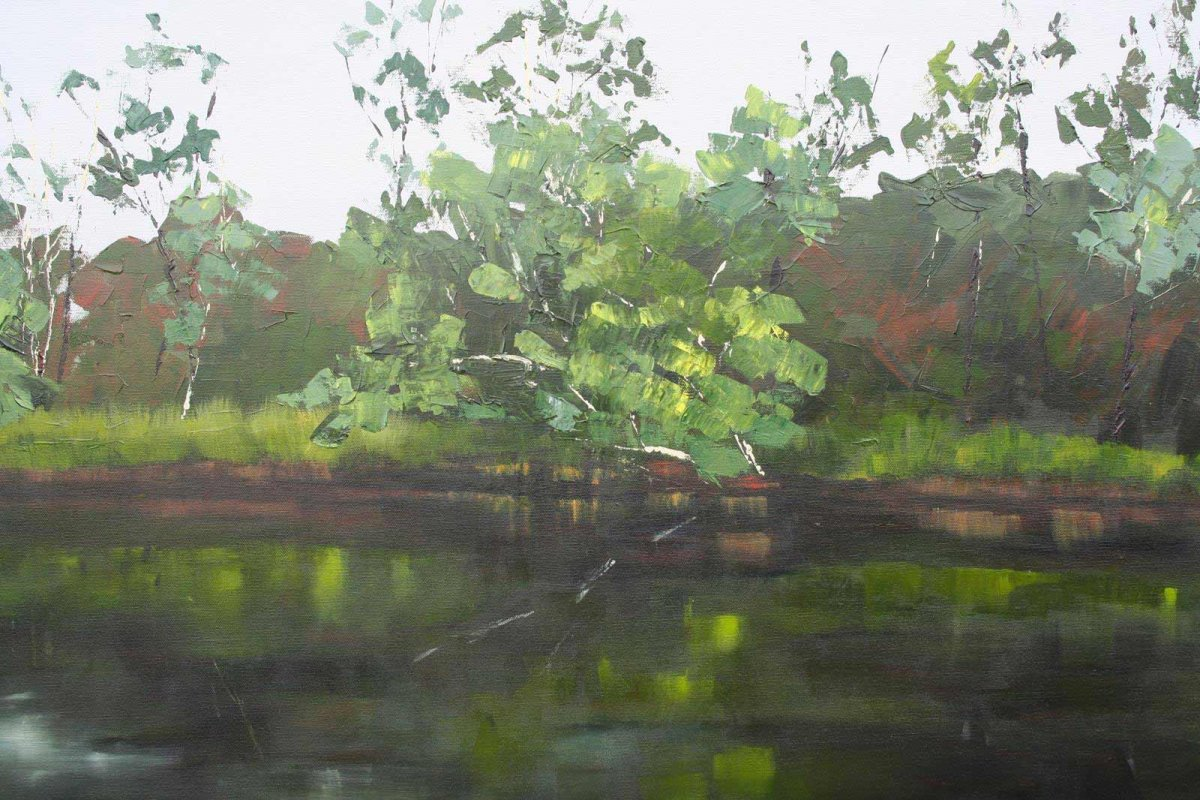 Glenelg River 5, acrylic on canvas, painting for sale for $980 by artist Heather Wood.