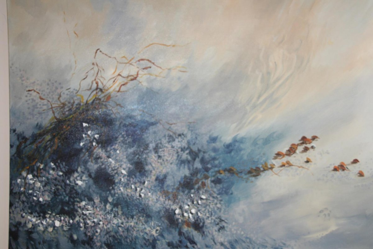 In the Wave, painting by artist Heather Wood