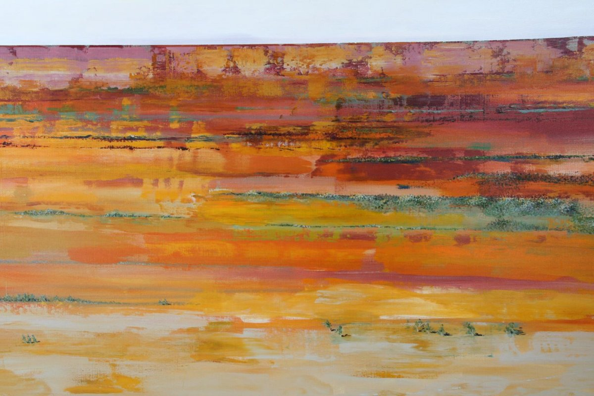 Outback QLD 1, painting by artist Heather Wood