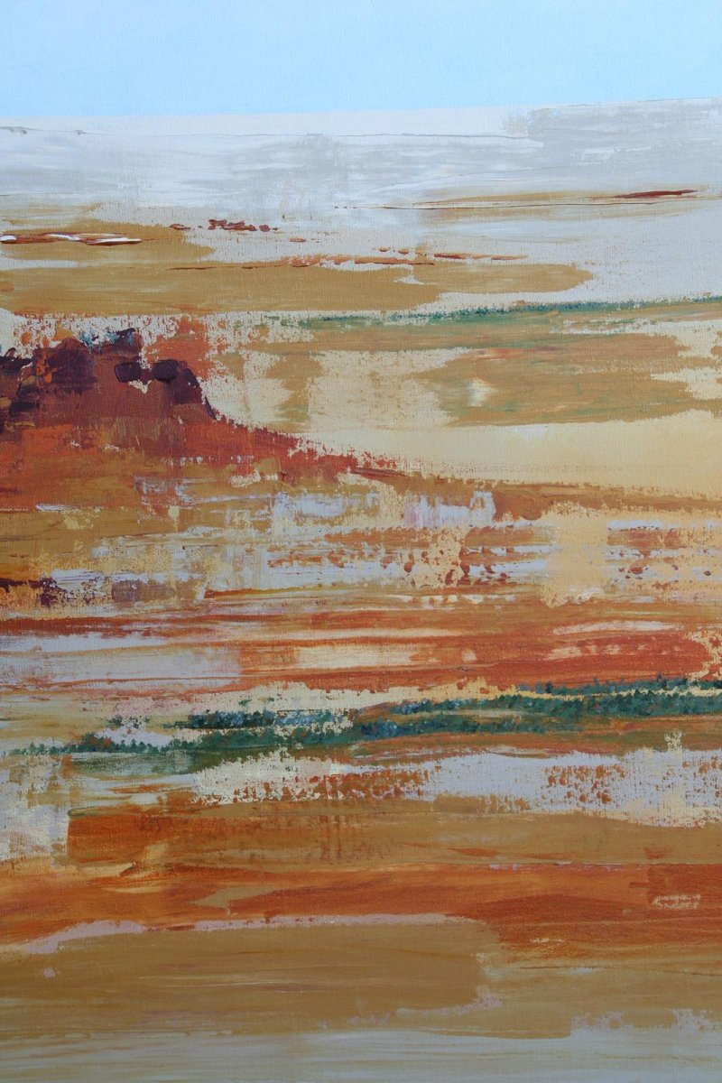 Outback QLD 2, painting by artist Heather Wood