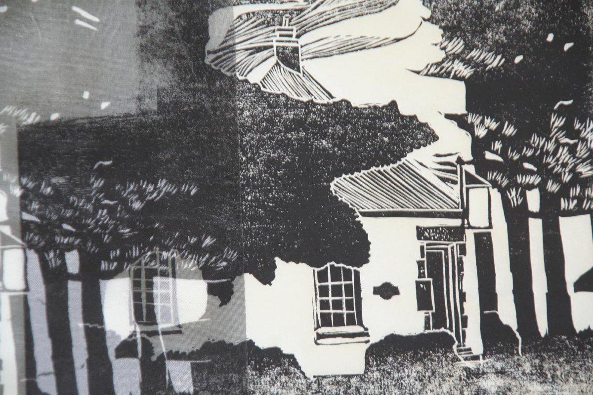 Print, linocut by artist Heather Wood