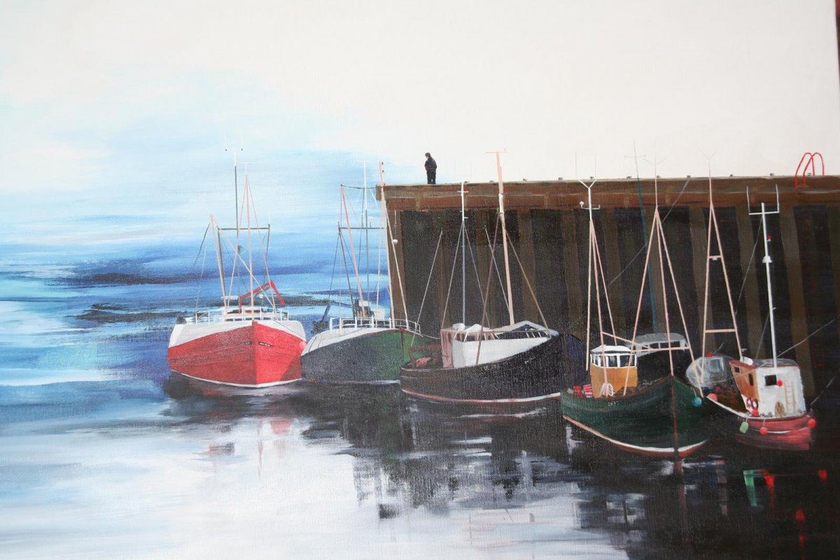 Scotland, painting by artist Heather Wood
