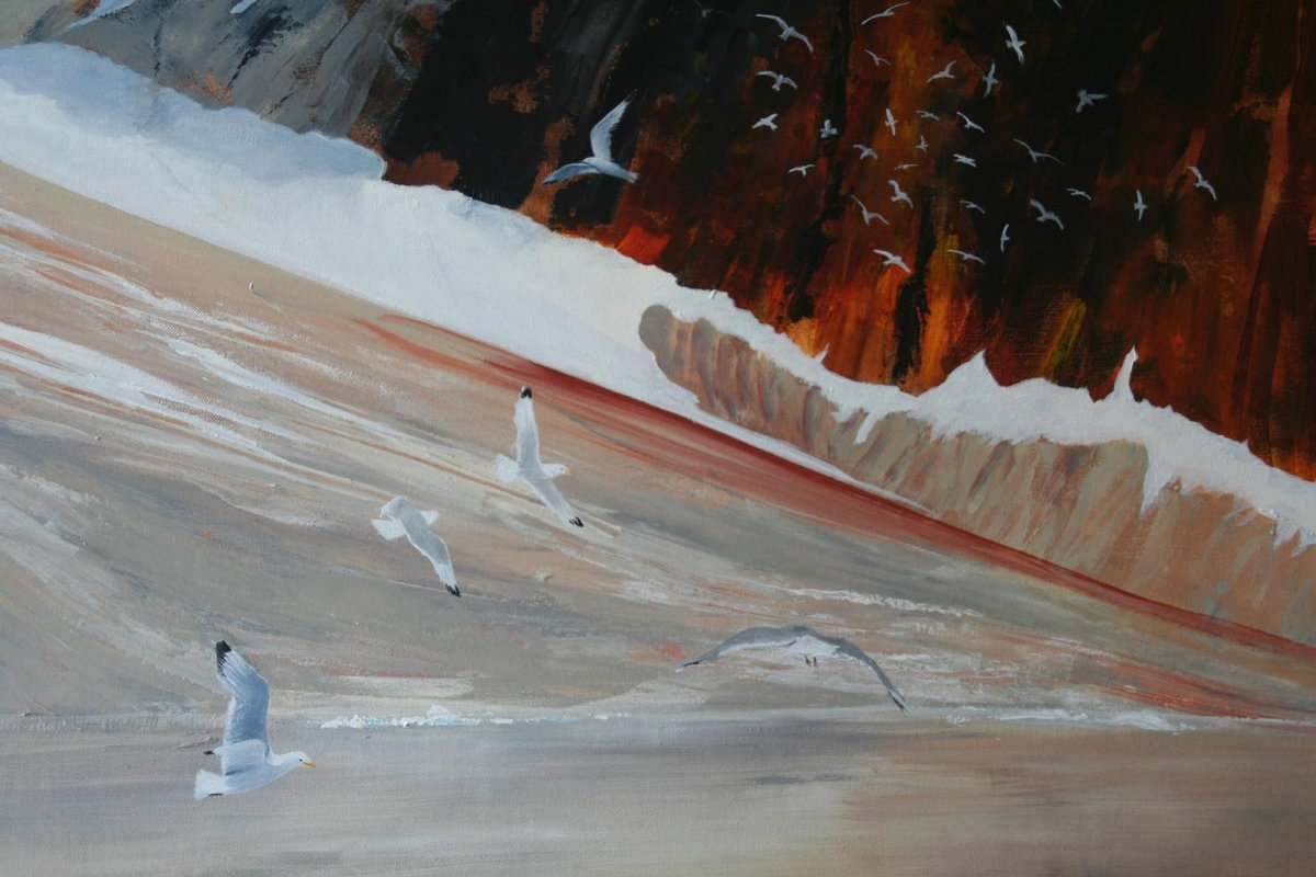 Spitsbergen, painting by artist Heather Wood