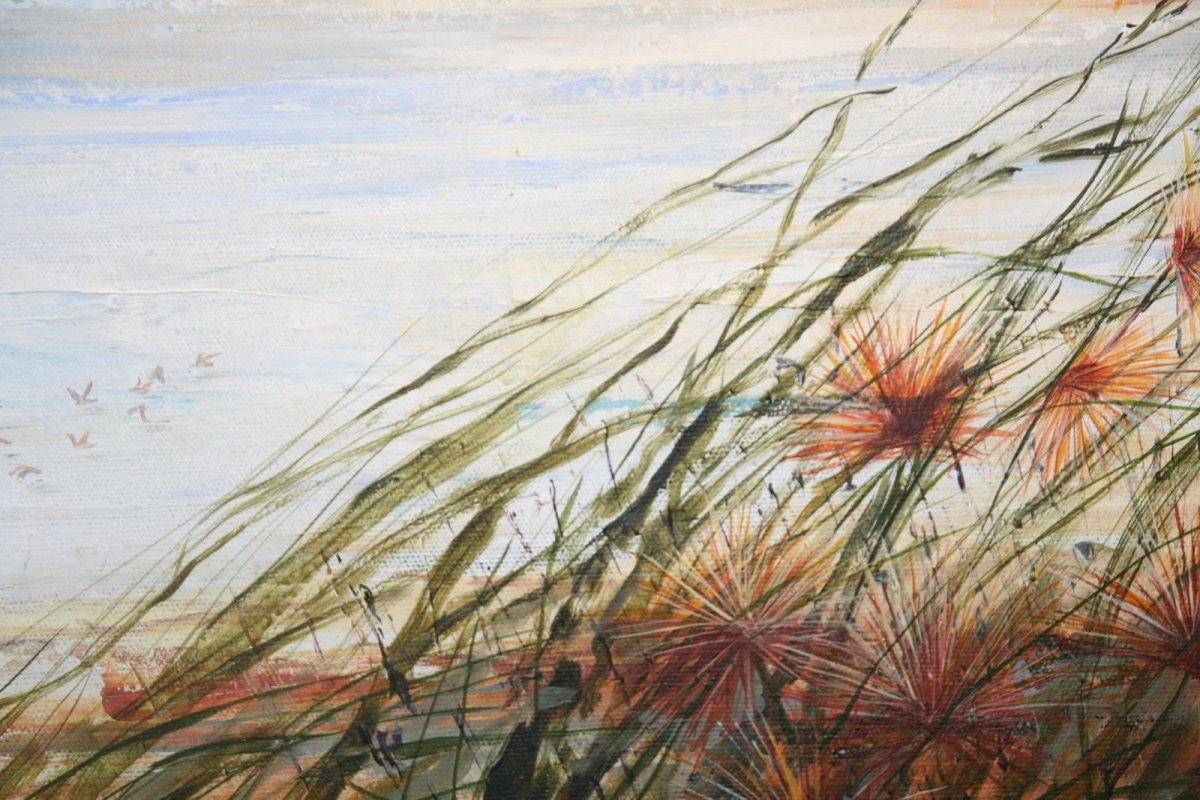 Track to the Beach, painting by artist Heather Wood