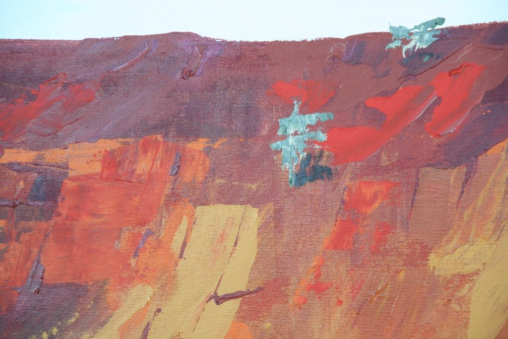 Unearthed 4, painting by artist Heather Wood