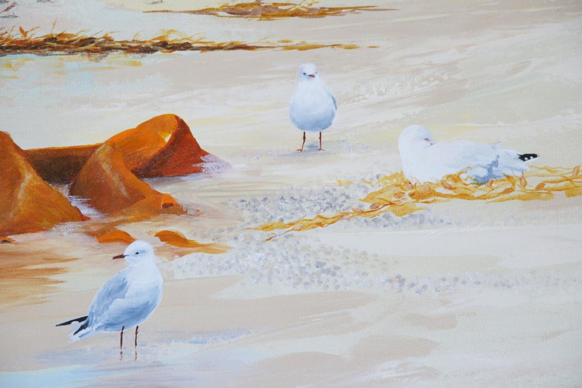 Watching Waiting, painting by artist Heather Wood