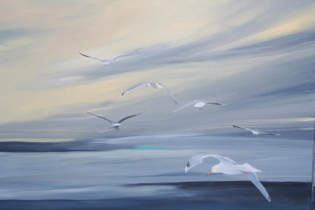 Wild and Free 2, painting by artist Heather Wood