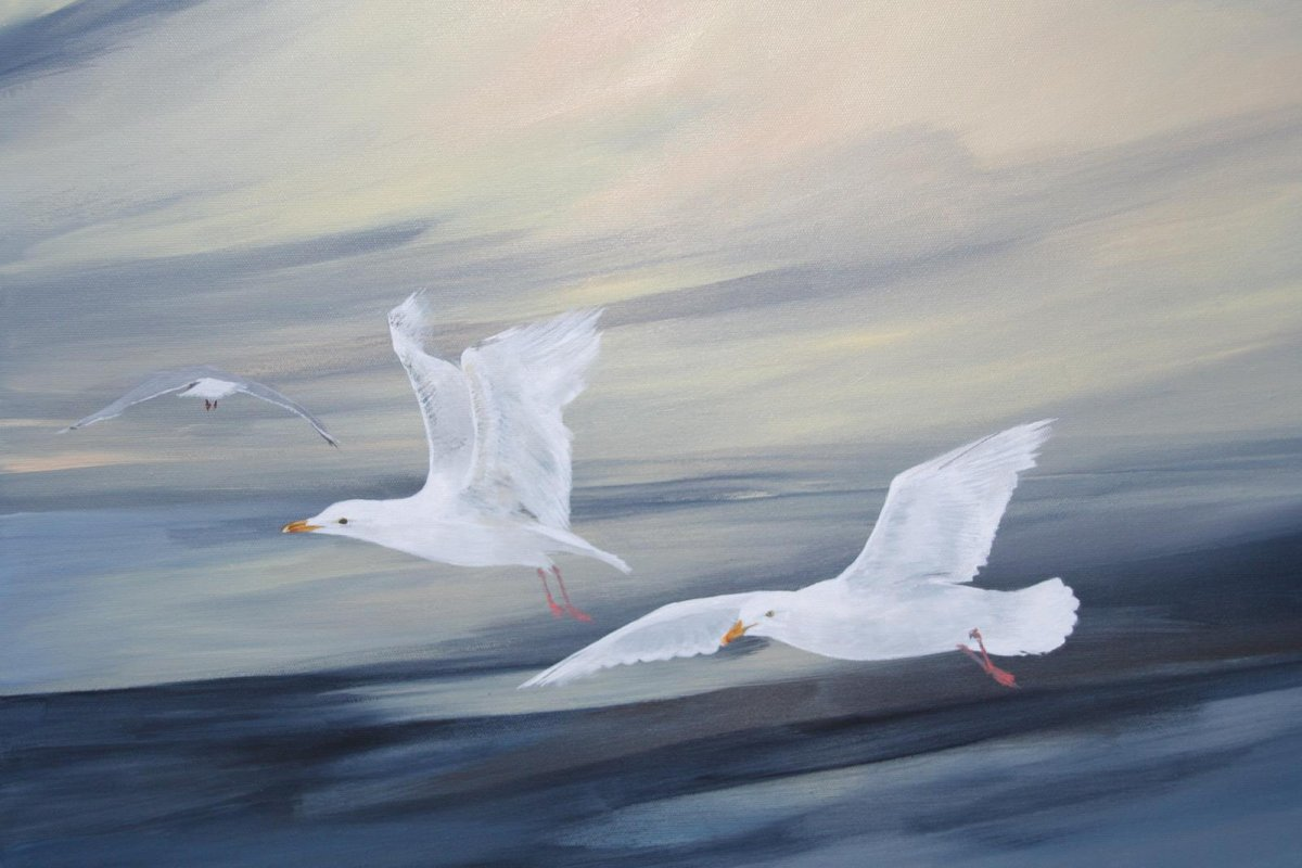 Wild and Free, painting by artist Heather Wood